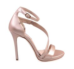 SAGIAKOS Leather Bridal High-heeled Sandals. Γυναικεία δερμάτινα ψηλοτάκουνα νυφικά πέδιλα.