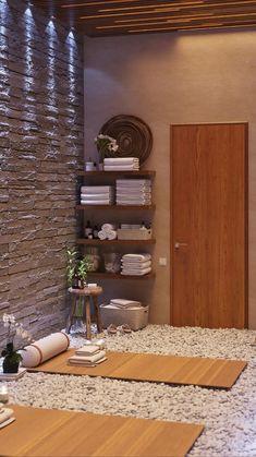 Massage Room Design, Massage Room Decor, Yoga Room Design, Meditation Room Decor, Home Spa Decor, Home Spa Room, Spa Room Decor, Spa Rooms, Spa Interior Design