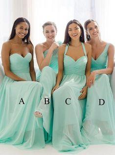 Eng Anliegendes Träger-um-den-Hals Bodenlanges Mintgrünes Brautjungfernkleid mit Rüschen in Mode