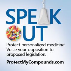 Proposed legislation may seriously restrict access to compounded medication. Learn more and take action: http://ProtectMyCompounds.com/
