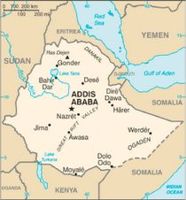 Addis Ababa, Ethiopia - where Hannah's Hope Orphanage is located.