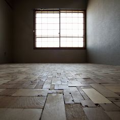 :: Timber stripped from ceiling reused as patchwork floor. The floor of Atsumi by 403architecture