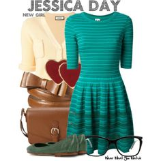 Inspired by Zooey Deschanel as Jessica Day on New Girl - Shopping info! Dressy Casual Outfits, Cute Work Outfits, New Girl Style, My Style, Jessica Day, Estilo Preppy, Designer Party Dresses, Teaching Outfits, Fashion And Beauty Tips
