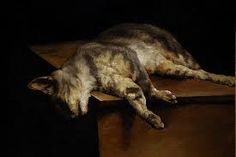 Theodore Gericault / cropped detail of the dead cat