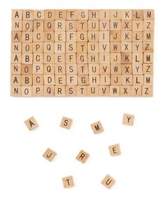 Mini Alphabet Tile Set PRODUCT DESCRIPTION: Ideal for arts and crafts projects, these versatile alphabet tiles can be turned into jewelry, magnets, key chains and more! DETAILS:Includes 120 tilesEach tile: x Arts And Crafts Projects, Crafts To Make, Wood Crafts, Projects To Try, Paper Crafts, Make Your Own Jewelry, Unfinished Wood, Craft Tutorials