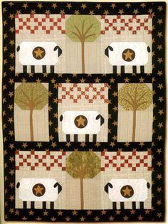 Sheep Quilt...primitive design.