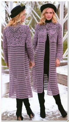 Discover thousands of images about 46 Ideas crochet shawl cardigan sweater coats Gilet Crochet, Crochet Coat, Crochet Cardigan Pattern, Crochet Jacket, Crochet Shoes, Crochet Blouse, Crochet Clothes, Crochet Patterns, Sweater Coats