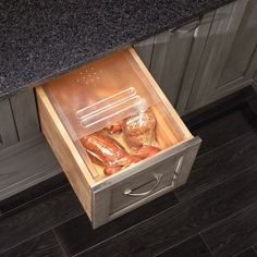 Bread Drawer Kits, easily installs into an existing drawer. I would love this. It would be a great way to keep the bread safe from the dog. #dreamkitchen