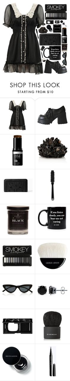 """""""Smokey"""" by majomilk ❤ liked on Polyvore featuring MAKE UP FOR EVER, McCoy Design, Kate Spade, GHD, Jac Vanek, Giorgio Armani, Le Specs, BERRICLE, NARS Cosmetics and Givenchy"""