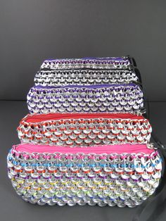 Pop isn't good for you but these Pop-Tab clutches will having your friends talking! Loredo Purple Rainbow Pop Tab Clutch $42. Various colors available
