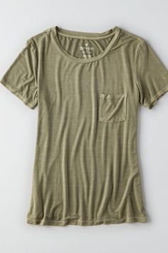 Our Soft & Sexy collection is swingy, drapey & silky soft? Proof that style & comfort aren?t mutually exclusive. Shop the AEO Soft & Sexy Pocket T-Shirt  from American Eagle Outfitters. Check out the entire American Eagle Outfitters website to find the best items to pair with the AEO Soft & Sexy Pocket T-Shirt .