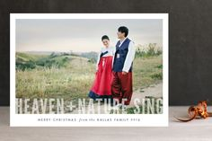 Heaven + Nature Christmas Photo Cards by Pistols at minted.com