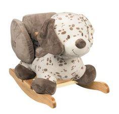 La #bascule Max le #chien #Nattou issue du thème Noa, Tom & Max sera un jouet parfait pour les bébés aventuriés à partir de 10 mois. #balancelle #maxnoaettom