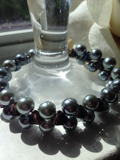 Handcrafted Double Strand Mother of the Bride / Evening Bracelet by goldenhandscreations, $37.00