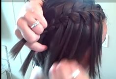 Fun hair for the holidays – Long or Short hair.  Waterfall braid (self)