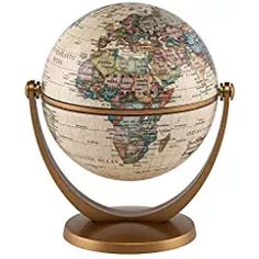 The Political Antique ocean globe is a compact mini-globe with over 600 geographical names. This swivel and tilt globe can be rotated in all directions. Compare, Shop and Save at Ultimate Globes. Island On Wheels, Kids Globe, Continents And Countries, World Decor, Vintage Library, World Globes, Diy Kitchen Island, Coffee Colour, Worlds Of Fun