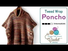 Introducing the Tweed Under Wraps Poncho for women. This once piece project is easy to make with the help of bulky yarn to speed up the process of making thi...