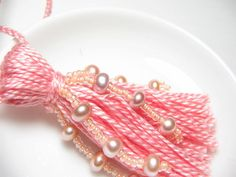 Pink Pearl Beaded Wedding Tassel. $10.00, via Etsy.
