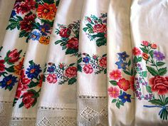 Traditional Ukrainian embroidered towels