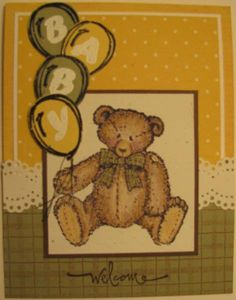 welcome baby by huggy - Cards and Paper Crafts at Splitcoaststampers