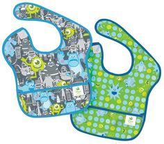 Bumkins Disney Baby Waterproof SuperBib - Polyester - Monsters - 2 ct