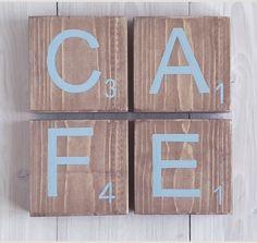 lettres en bois poser lettres lettreenbois cafe cuisine decocafe bois lettre decomood. Black Bedroom Furniture Sets. Home Design Ideas