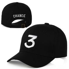 cad08f7224f0d the Chance Rapper 3 Hat Fashion Hip-pop Baseball Hat Cap Adjustable Black  Hip Hop Gothic gorro Dad Hat Yeezy Strapback Cap(China (Mainland))