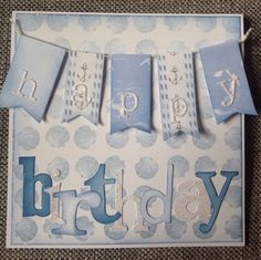 Card designed by Julie Hickey using Harbour Boulevard Paper pad. Baby Cards, Men's Cards, Craftwork Cards, Masculine Birthday Cards, Paper Crafts, Card Crafts, Craft Work, I Card, Cardmaking