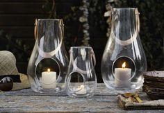 Lanterns, from Holmegaard, Danish design