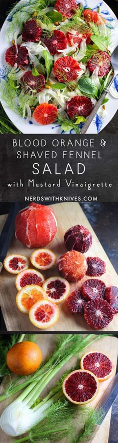 Blood Orange, Shaved Fennel And Pistachio Salad With Mustard Vinaigrette