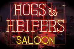 Hogs and Heifers Saloon in Downtown Las Vegas, Nevada