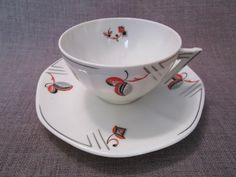 Art deco cup Bloch & Co Eichwald Czechoslovakia