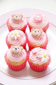 Kaloo Bear Pink Mini Cupcakes