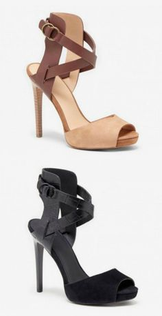Strappy peeptoe heels