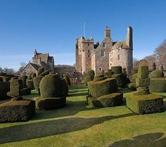 Earlshall Castle,  Leuchars, St. Andrews, Fife, Scotland KY16....     www.castlesandmanorhouses.com/chateauxforsale.htm   ...     You can buy this 16th Century castle (July 2016) for £5 million. 53 acres. world famous garden. Built in 1546 by Sir William Bruce & received Mary Queen of Scots in 1561. 10 bedrooms, 8 receptions, 2 dressing rooms, 6 bathrooms, grand dining room and outbuildings, including three cottages. Five car garage.