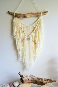 woven wall hanging woven tapestry yarn by ColibriHandicrafts
