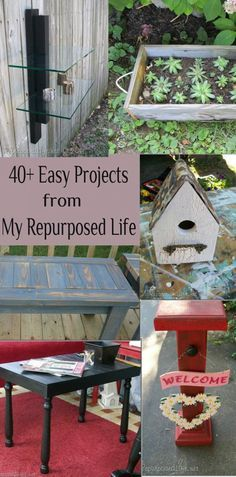 My Repurposed Life- DIY: #40+ Beautiful Easy Home Projects ! Save a TON of money by repurposing ! And Gail From My Repurposed Life is a genius at showing you how !