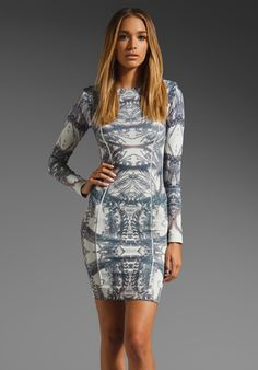 THATCHER Minimalist Body Con Dress in Chain Mosaic at Revolve Clothing - Free Shipping!