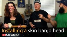How to install a skin banjo head