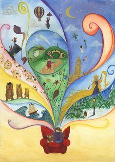 Book Magic - Ellie Jenkins Illustration #magic #books #reading