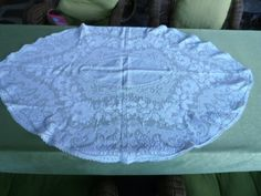 Vintage Filet Lace Table Topper by MarushkaVintageLinen on Etsy