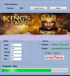 Kings Empire Hack tool download 2016 cheats version. Kings Empire Hack with cheats. Hack Kings Empire Hack on smartphone.