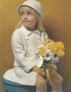 Crochet Girls COAT Hat Crochet Pattern от touchofnostalgia7
