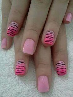 Pink with black zebra print