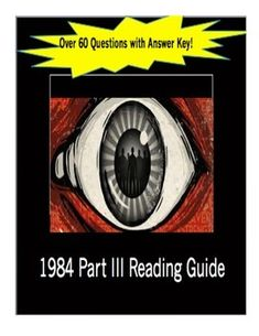This Reading Guide for Part III of George Orwell's 1984 has over 60 questions with an answer key! Guide your students through the last section of the book without creating more work for yourself. This guide ensures that students read closely and allows them to practice higher level reading skills. By the time we reach Part III, my students are anticipating another thought-provoking guide that allows them to draw and write! Check it out.