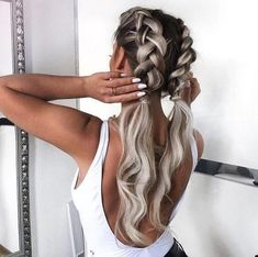 Imagem de hair, braid, and girl