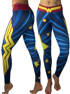 7d2e1a941ef41 S2 Activewear Harley Quinn Superhero Leggings Yoga Pants Compression Tights  at Amazon Women's Clothing store: