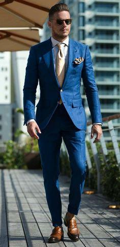 Wear-For-Men/ best blue suits, blue suit men, blue suit outfit, man outfit, Best Blue Suits, Blue Suit Men, Cool Suits, Blue Suit Groom, Suit For Men, Cheap Mens Fashion, Mens Fashion Suits, Mens Suits, Blue Suit Outfit