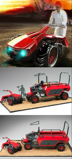 Beehive is a new concept of agricultural vehicle based on the OPOC engine by…
