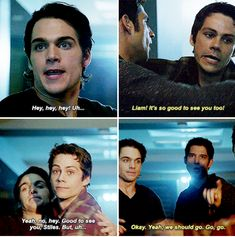 I didn't even notice these part the first time but i loved it // Stiles and Liam